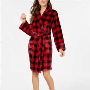 Charter Club Small Checkered Robe